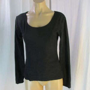 Anne Fontaine Black Knit Textured Shirt Top 3